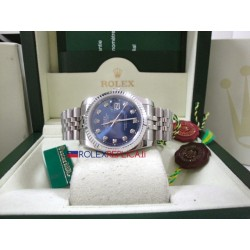 Rolex replica datejust acciaio blu brillantini jubilèè orologio replica copia
