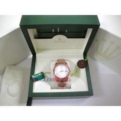 Rolex replica daydate new basilea rose gold white roman orologio replica copia