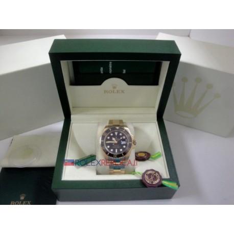 Rolex replica submariner ceramichon oro black dial orologio replica copia