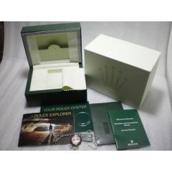 Rolex scatola box official set complete booklet service