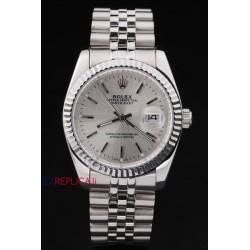 Rolex replica datejust argentèè barrette orologio replica copia
