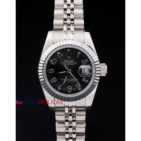 Rolex replica datejust lady black arab orologio replica copia