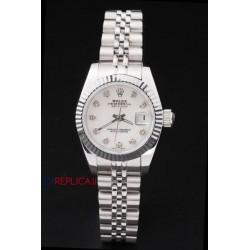 Rolex replica datejust lady white brillantini orologio replica copia