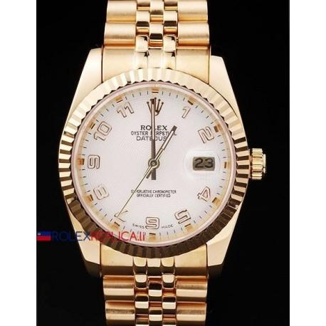 Rolex replica datejust oro white arab orologio replica copia