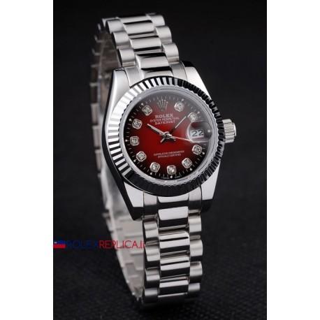 Rolex replica datejust red dial brillantini orologio replica copia