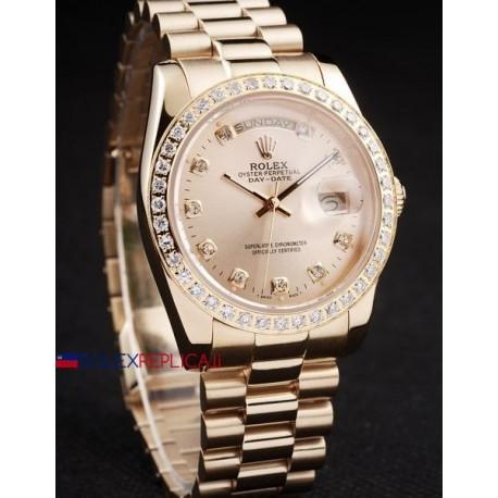 Rolex replica daydate pearlmaster rose gold orologio replica copia