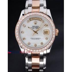 Rolex replica daydate pearlmaster acciaio oro white dial orologio replica copia