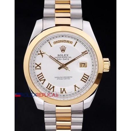 Rolex replica daydate acciaio oro white dial orologio replica copia