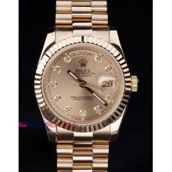 Rolex replica daydate full rose gold brillantini orologio replica copia