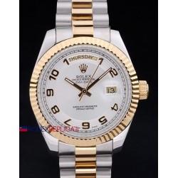Rolex replica daydate acciaio oro arab white dial orologio replica copia