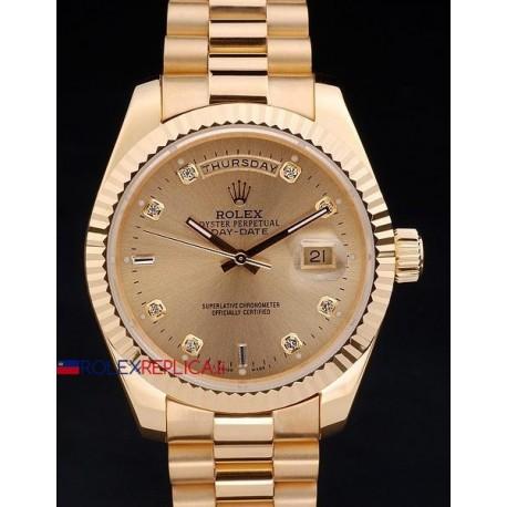 Rolex replica daydate full oro orologio replica copia