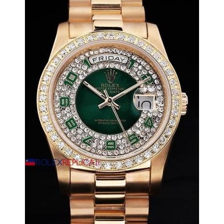 Rolex replica daydate SARU green dial orologio replica copia