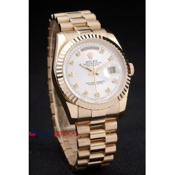 Rolex replica daydate oro white brillantini orologio replica copia