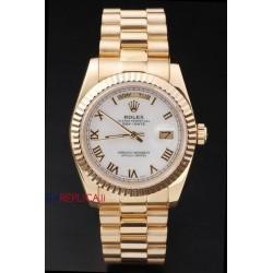 Rolex replica daydate oro white roman orologio replica copia