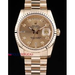 Rolex replica daydate gold dial full oro giallo orologio replica copia