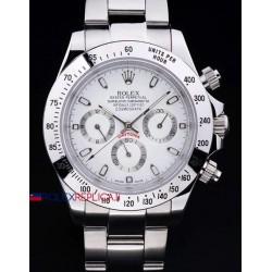 Rolex replica daytona acciaio classic white orologio replica copia