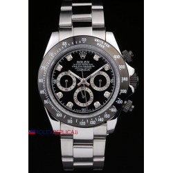 Rolex replica daytona acciaio ceramichon brillantini black orologio replica copia