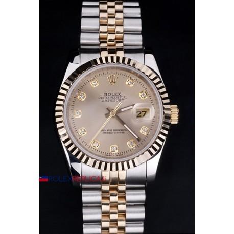 Rolex replica datejust acciaio oro argentèè dial orologio replica copia