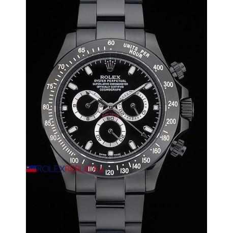 Rolex replica daytona pro-hunter black dial orologio replica copia