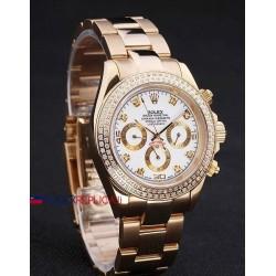 Rolex replica daytona oro giallo brillantini bezel orologio replica copia