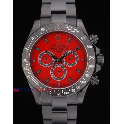 Rolex replica daytona pro-hunter PVD bamford green special dial red orologio replica copia