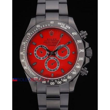 Rolex replica daytona pro-hunter PVD bamford green special dial red orologio replica copia