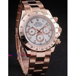 Rolex replica daytona rose gold brillantini white dial orologio replica copia