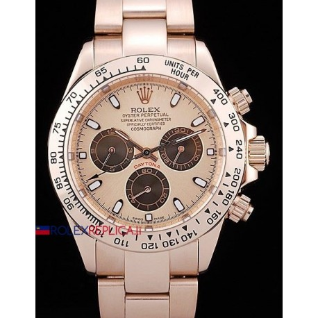 Rolex replica daytona rose gold dial panda orologio replica copia