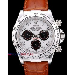 Rolex replica daytona vip dial panda strip leather orologio replica copia