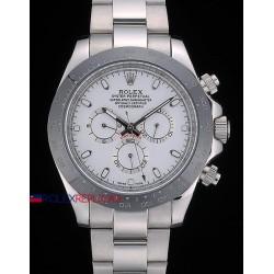 Rolex replica daytona acciaio new ceramichon white dial orologio replica copia