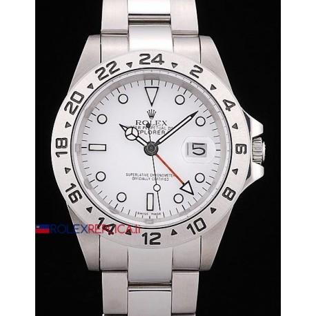 Rolex replica explorer II classic white dial orologio replica copia