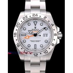 Rolex replica explorer II big 42 mm white dial orologio replica copia