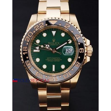 Rolex replica GMT master II ceramica oro green dial orologio replica copia