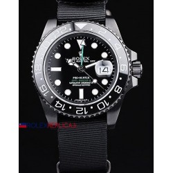 Rolex replica GMT master II 116710LN pro-hunter PVD cordura orologio replica copia