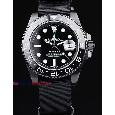 Rolex replica GMT master II 116710LN pro-hunter PVD cordura orologio replica copia