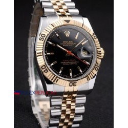 Rolex replica turn-o-graph acciaio oro black dial orologio replica copia
